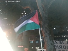 Flag flying in Sydney - @AussieActivist