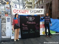Occupy sydney say NO To Monsanto - @AussieActivist