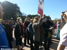 Anonymous March Against monsanto - @AussieActivist