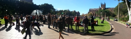 Panoramic view of crowd, Sydney - @AussieActivist